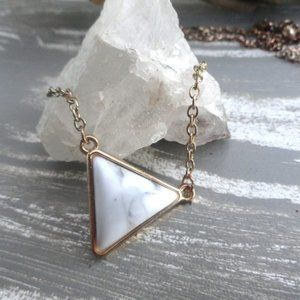 3/$20 Triangle pendant necklace with gold chain